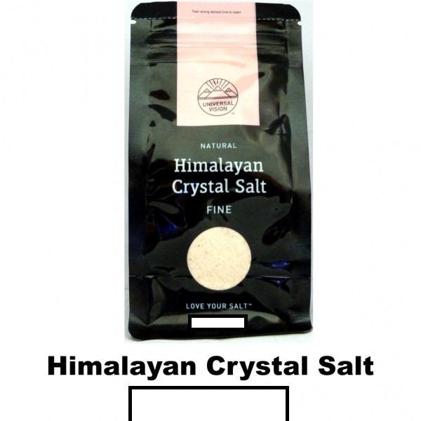 Himalayan Crystal Salt -Fine 2x 500g By Kr Store.