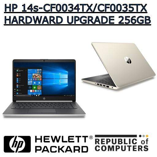 HP 14s-cf0034TX/HP 14s-cf0035TX UPGRADE HARDWARE SSD:128GB/256GB