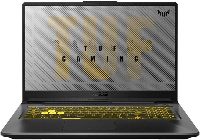 "ASUS TUF Gaming A17 Gaming Laptop, 17.3"" 120Hz FHD IPS-Type, AMD Ryzen 7 4800H, GeForce GTX 1660 Ti, 16GB DDR4, 1TB PCIe SSD, 90WHr Battery, RGB Backlit KB, Windows 10 Home"