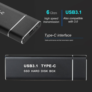 Ổ Cứng Di Động SSD Gắn Ngoài Tốc Độ Cao USB 3.1 M.2 NGFF Tiện Dụng thumbnail
