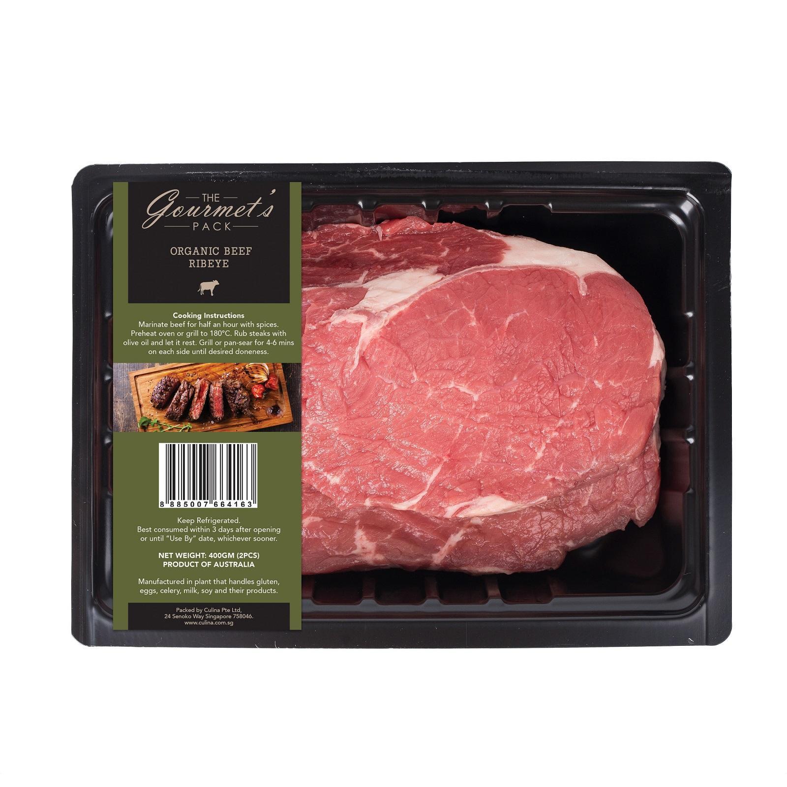 The Gourmet's Pack Organic Grass Fed Ribeye Beef - Australia