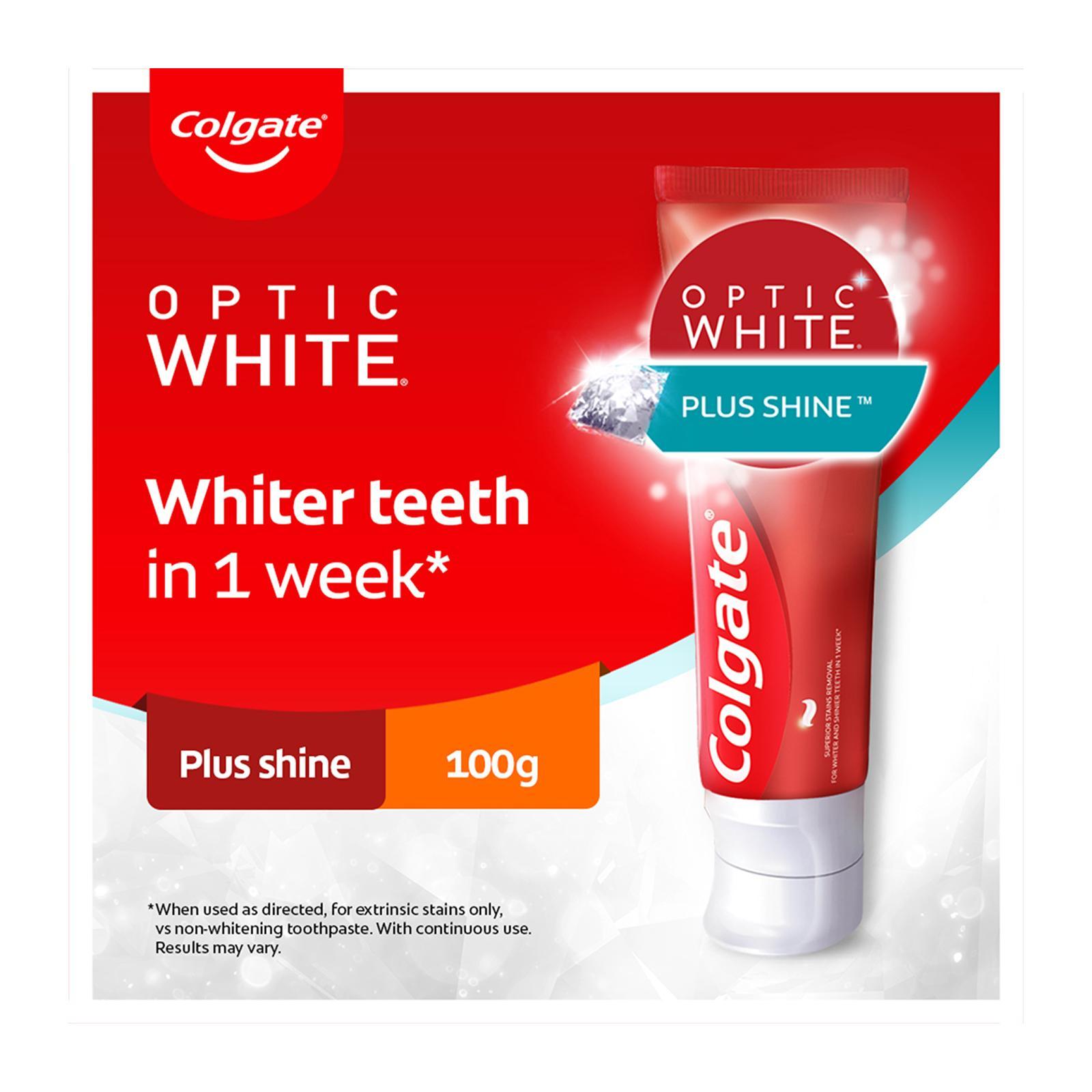 Colgate Optic White Plus Shine Whitening Toothpaste 100g
