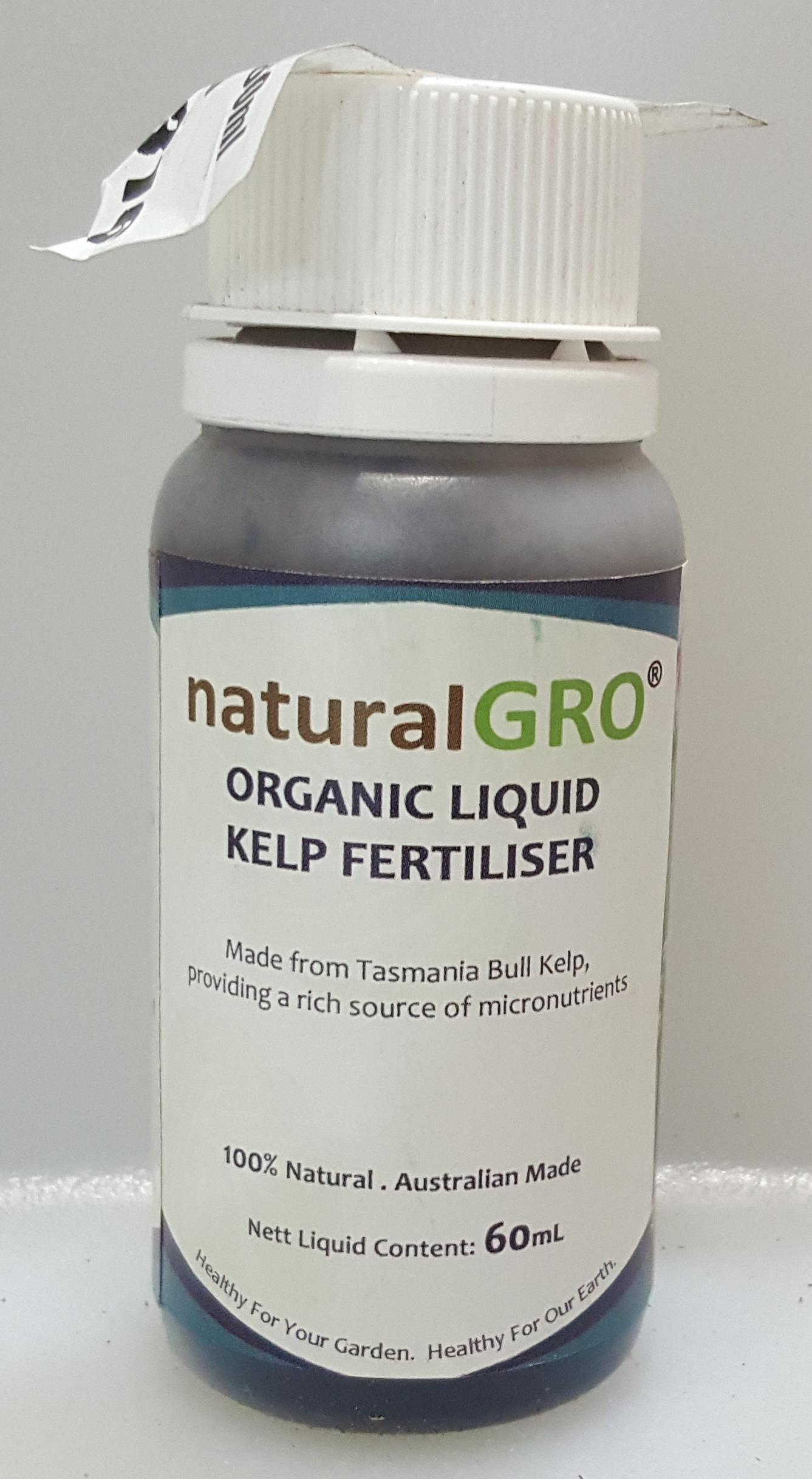 naturalGRO Organic Liquid Kelp Fertiliser 60mL