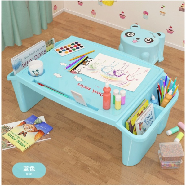Baby Plastic Bed Desk CHILDRENS Students Writing Learning Desk Children Multi-functional Toys Dinner Table