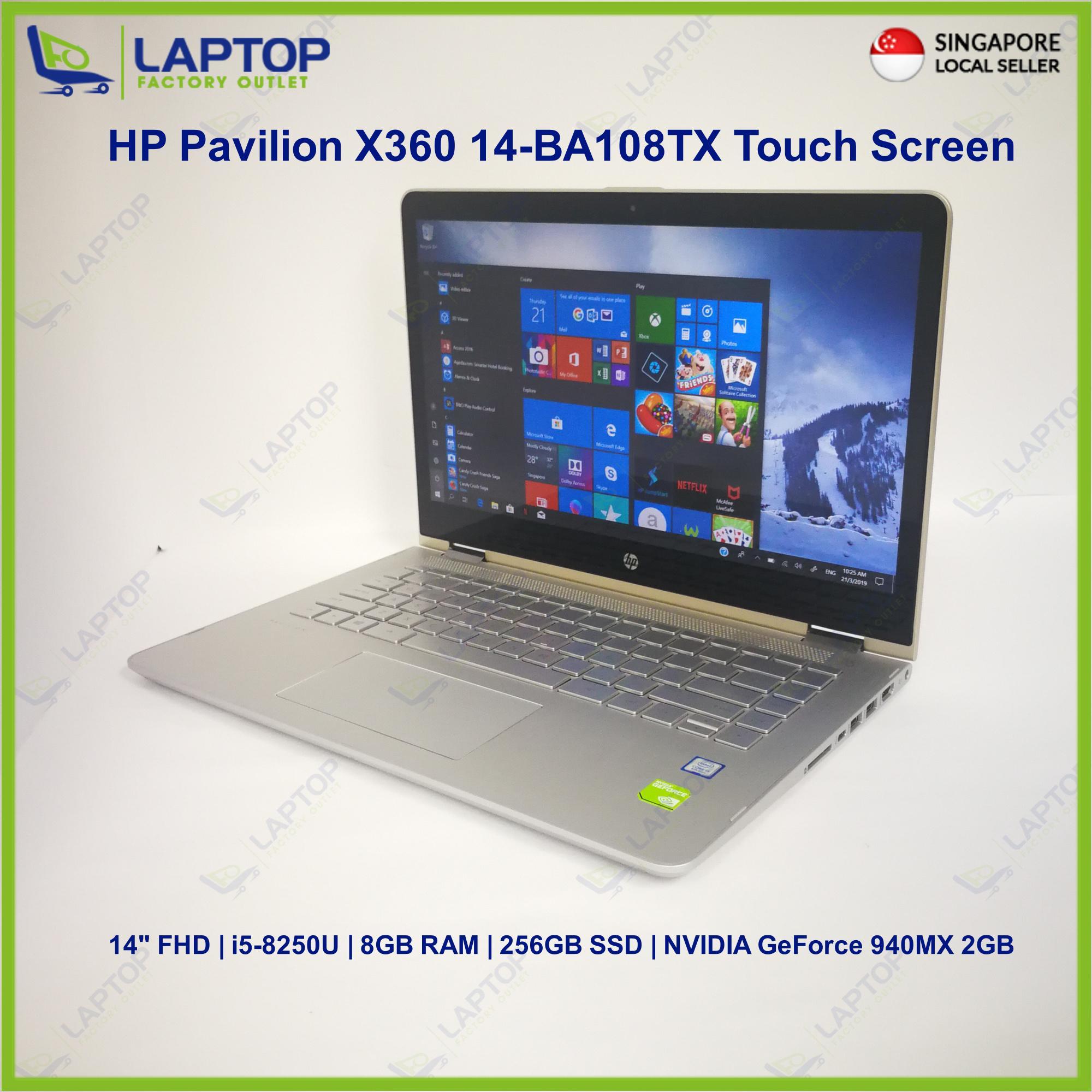 HP Pavilion X360 14-BA108TX (i5-8/8GB/256GB)Premium Preowned [Refurbished]