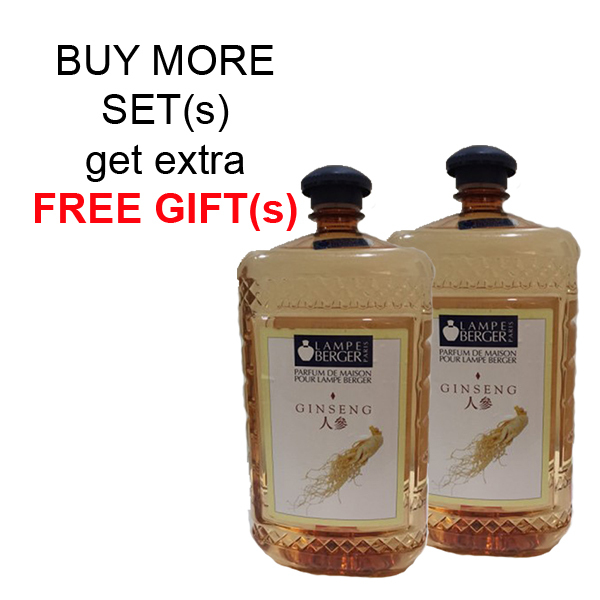 Buy LAMPE BERGER LB ESSENTIAL OIL 2L SET (2 BOTTLES) - GINSENG (人參) Singapore