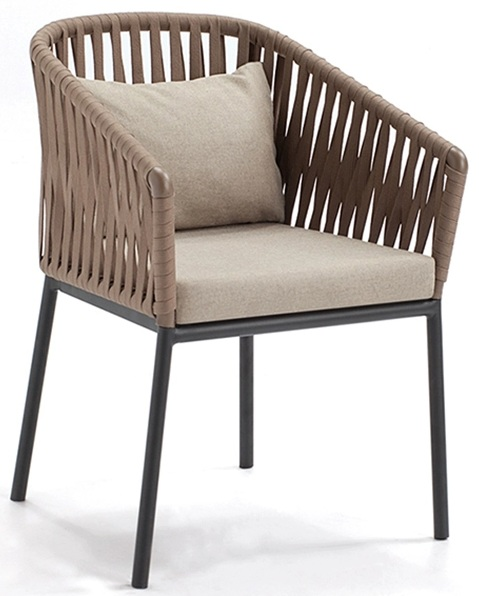Stylish Outdoor Rattan Chair with Cushion
