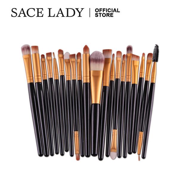 Buy SACE LADY 20 Pcs Makeup Brushes Set For Concealer Eyebrow & Eyeshadow Make Up Brush Singapore