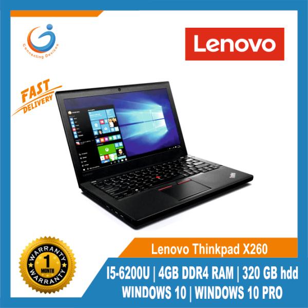 Lenovo Thinkpad X260 I5-6200U /4GB DDR4 RAM / 320 GB hdd / WINDOWS 10 / LAPTOP BAG/MOUSE/WINDOWS 10 PRO,