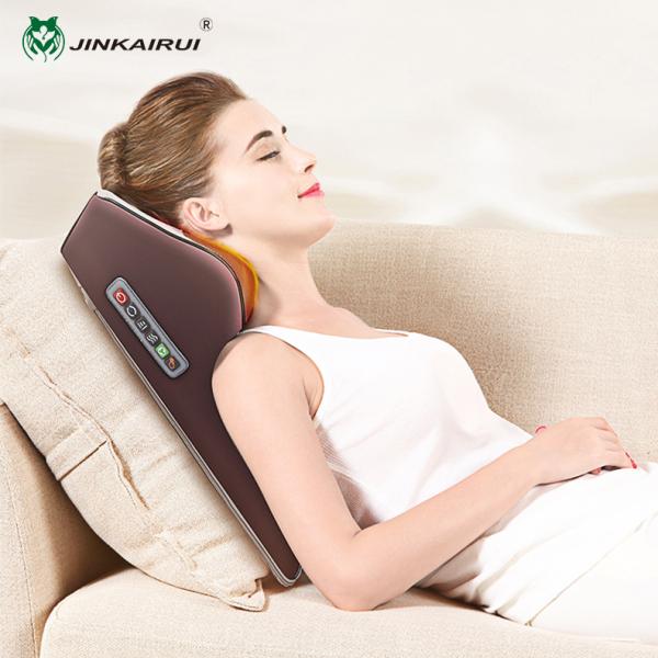 Buy Jinkairui Neck Massager Electric Cervical Back Waist Shiatsu Massage Pillow Cushion Home/Car Dual Use Singapore