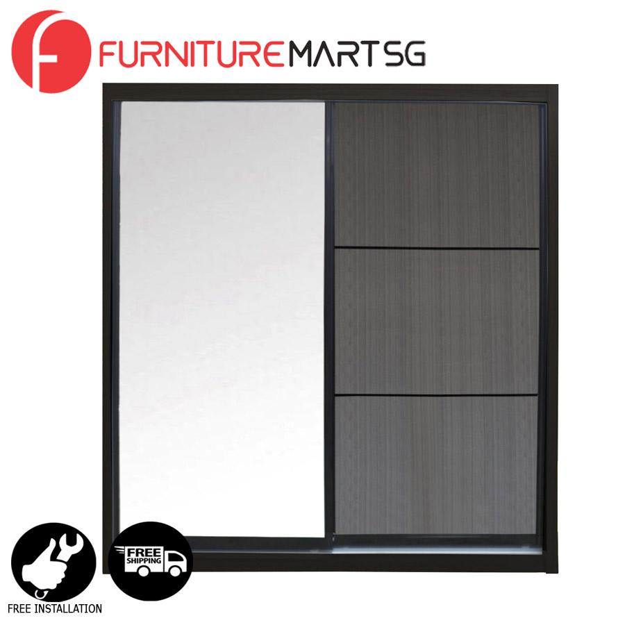[FurnitureMartSG] Eddy 5FT Sliding Wardrobe _FREE DELIVERY + FREE INSTALLATION