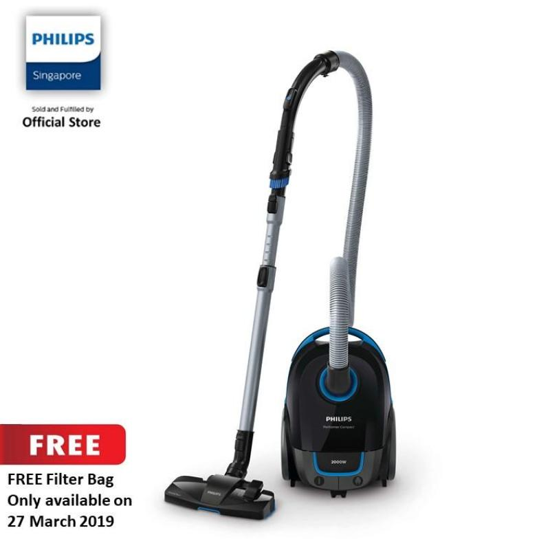 FREE Filter BAG (While Stock Last) with Philips Performance Compact Vacuum Cleaner with Bag - FC8383/61 Singapore