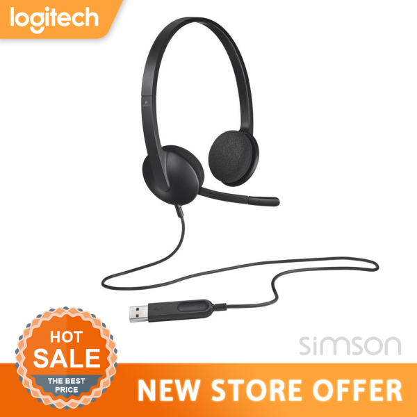 Logitech H340 USB computer headset noise canceling microphone for Windows MacOS ChromeOS Singapore