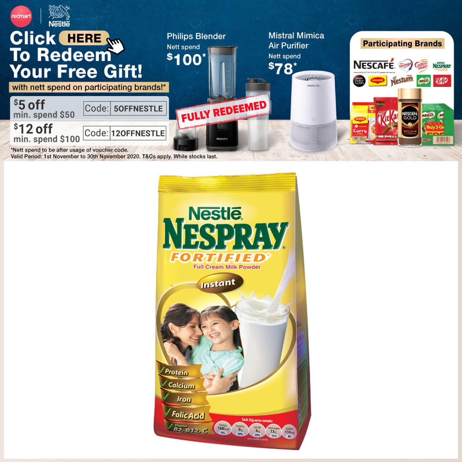 NESPRAY Nespray Fortified Full Cream Milk Powder 600g