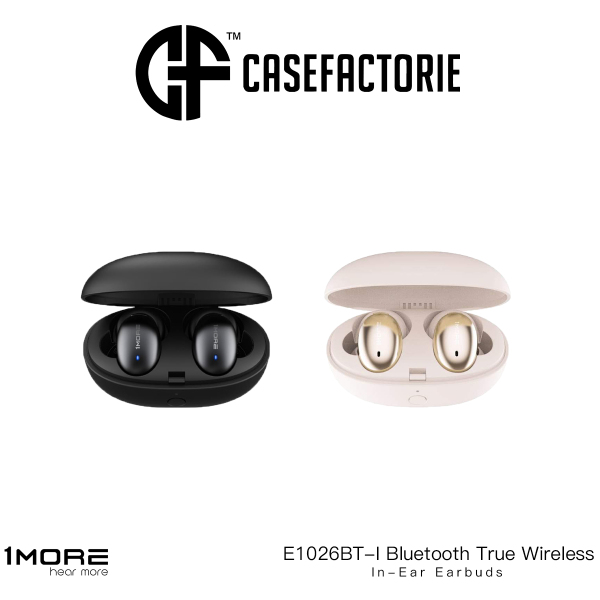 1MORE E1026BT-I Bluetooth True Wireless In-Ear Earbuds, Stylish 24-Hour Playtime, Stereo In-Ear Headphones with Charging Case, Built-in Microphone, Alternate Pairing Mode Singapore
