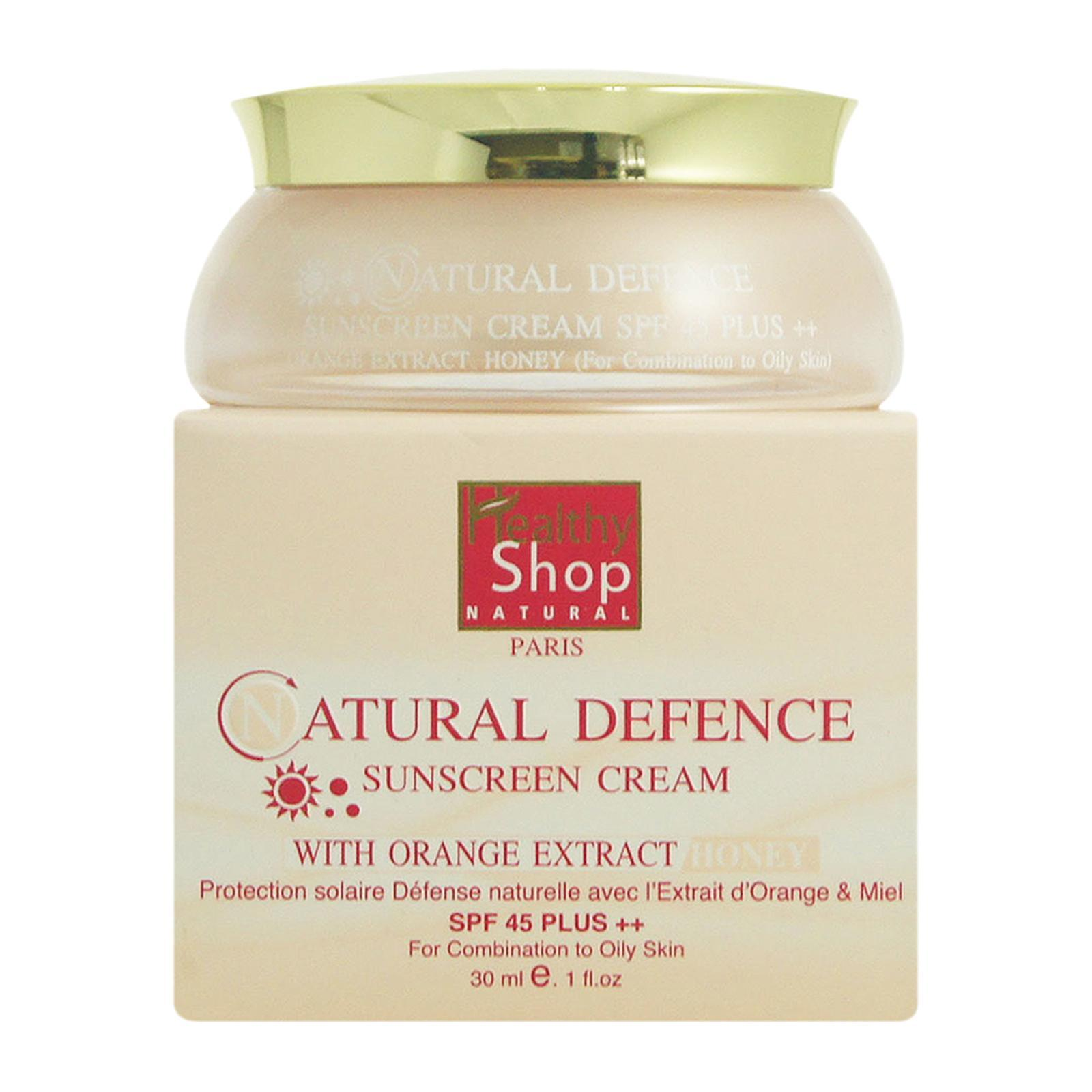 Healthy Shop 150 Defence Sunscreen Cream Orange Extract For Combination to Oily Skin