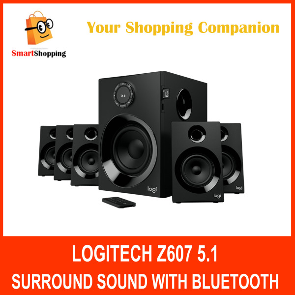 Z607 5.1 Surround Sound with BT 980001319 Sound Speaker System Compatible with TV, Phone, Computers, Games and more