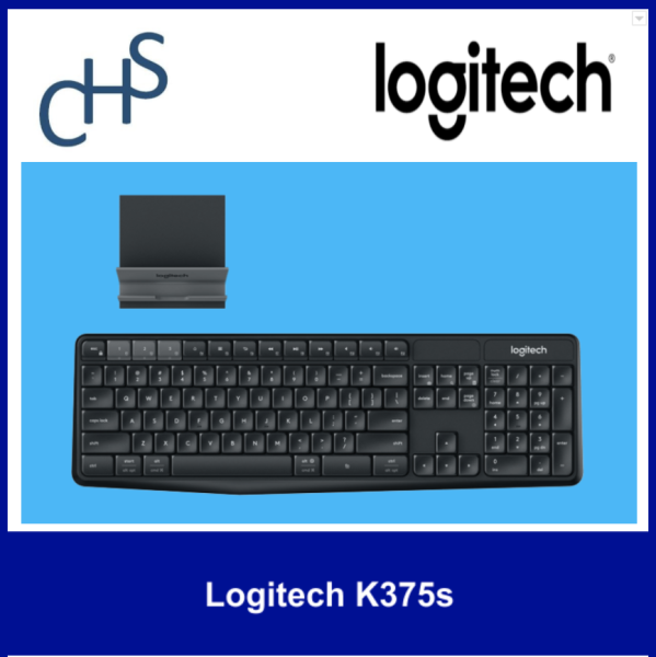 (Original) Logitech K375s | Bluetooth wireless connection | Compatible for Windows® 7, Windows 8, Windows 10 or later Android 5.0 Mac OS X 10.10 or later iOS 5 or later Chrome OS™ | 1 year warranty Singapore