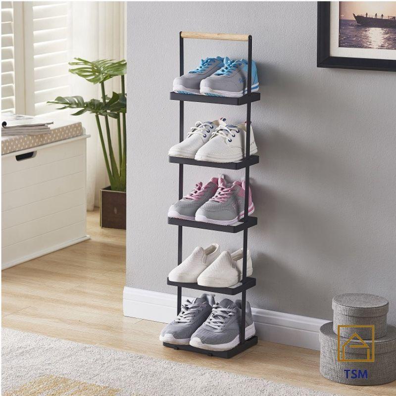 5 Tier Shoe Rack Slim Steel Metal for Suitable for BTO Gateway Gap Condo Shoe Organisers