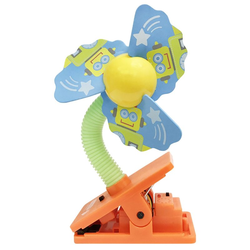Lucky Baby Mini Safety Clip on Fan W/Ultrasonic Mosquito Repellent - Robot Singapore