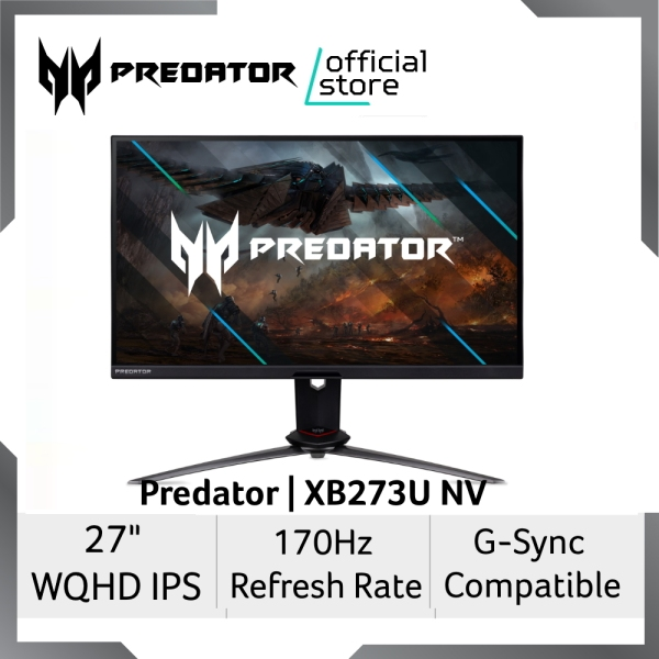 [NEW ARRIVAL] Predator XB273U NV 27-Inch WQHD IPS Gaming Monitor with 170Hz Refresh Rate and G-Sync Compatible