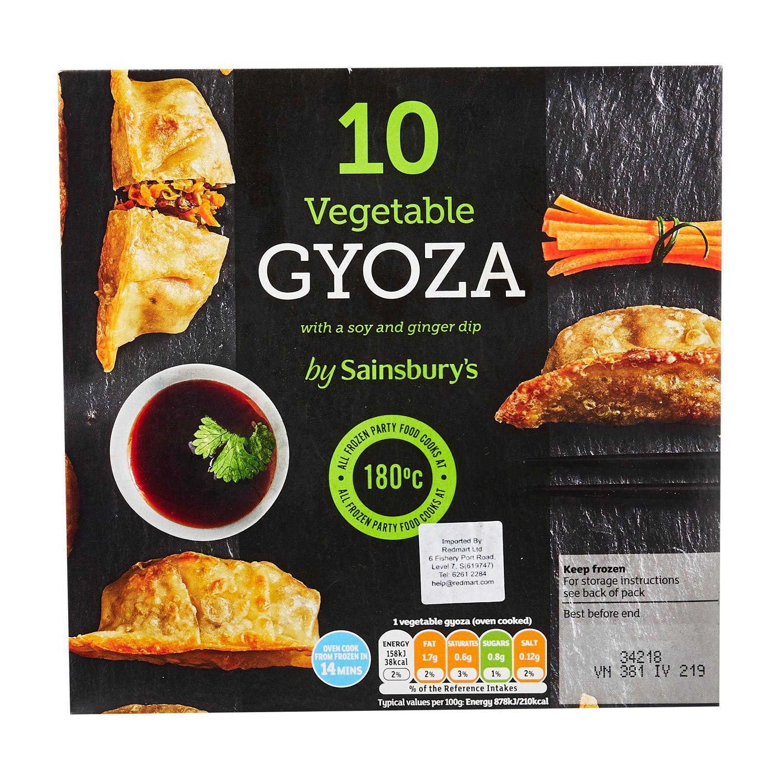 Sainsbury's Vegetable Gyoza Dumplings 10S - Frozen