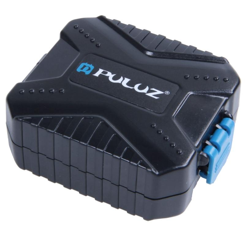 Giá PULUZ Memory Cards Case Waterproof Micro-SD CF TF Card Holder Stocker Storage Box (9 Slots)