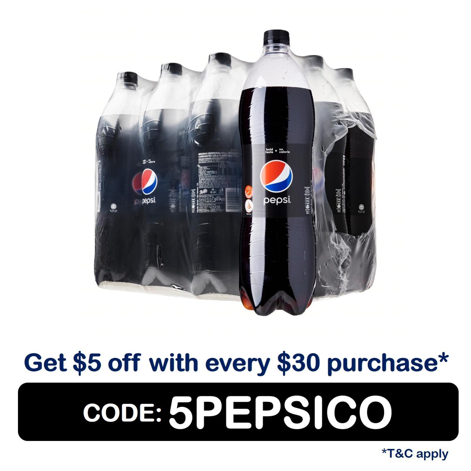 Pepsi Black (12 x 1.5L) - Case