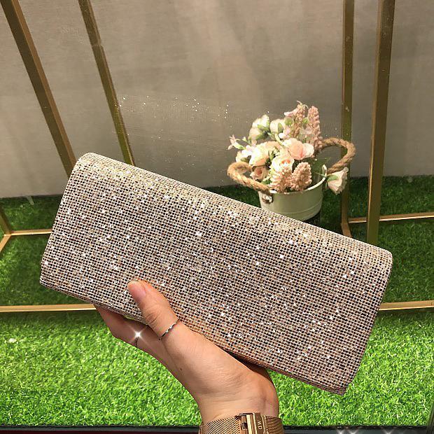 HOLILA Bling Sequin clutch bag glitter party bag wedding bridal clutch shoulder bag woman purse evening bag#13090