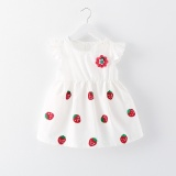 Buy 4 Years Toddler Baby G*rl Summer Dress G*rl Strawberry Flower Multiple Pattern Princess Skirt Dress Intl Cheap China
