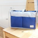 Coupon Haotom 1 Blue Multifunctional Waterproof Baby Stroller Organizer Stroller Storage Container Stowing Tidying Bag