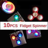 Discount 10 Led Light Fidget Spinner Anxiety Reducer Spinner Finger Tri Decompression Toys Random Color Intl China