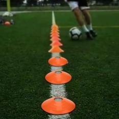 10 Pcs Practical Mini Field Cone Discs Marker Soccer Football Sport Speed Training Tool(orange) - Intl By Highfly.