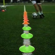 10 Pcs Practical Mini Field Cone Discs Marker Soccer Football Sports Speed Training Tool(green) - Intl By Highfly.