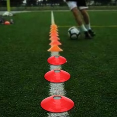 10 Pcs Practical Mini Field Cone Discs Marker Soccer Football Sports Speed Training Tools(red) - Intl By Highfly.