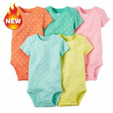 Compare Price 100 Cotton Summer Baby Cotton Short Sleeved Romper 5 Piece Suit Intl Oem On China