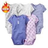 100 Cotton Summer Baby Cotton Short Sleeved Romper 5 Piece Suit Intl Free Shipping