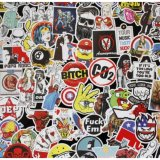 Discounted 100 Pcs Sticker Bomb Decal Vinyl Roll For Car Skate Skateboard Laptop Luggage Intl