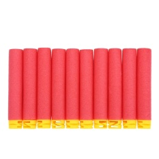100pcs 10 Colors Toy Soft Refill Bullets Darts Eva Foam For N-Strike Elite (red) - Intl By Highfly.