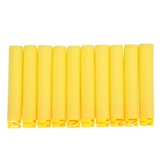 100pcs 10 Colors Toy Soft Refill Bullets Darts Eva Foam For N-Strike Elite (yellow) - Intl By Highfly.