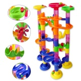 Compare Price 105Pcs Diy Construction Marble Race Run Maze Balls Pipeline Type Track Building Blocks Baby Educational Block Toy For Children Intl Oem On China