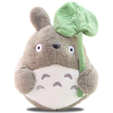 10Inch Lovely Plush Toy My Neighbor Totoro Plush Toy Cute Soft Doll Totoro With Lotus Leaf Kids Toys Cat Lower Price