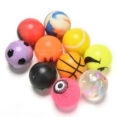 10pcs 27mm Bouncy Jet Balls Kids Toy For Party Color Bag Fillers - Intl By Mimar Upup.