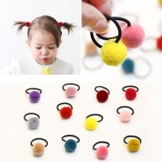 10PCS a Lot Baby Hair Candy Color Furry Ball Hair Ties Baby Girl Hair Clip  Girl 6b0cc6e2078
