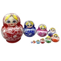 Price 10Pcs Colorful Handmade Cutie Nesting Doll Madness Russian Matryoshka Doll Intl Online China