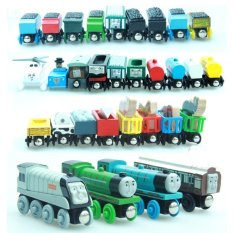 10Pcs New Thomas And His Friends Anime Wooden Railway Trains Toy Model Great Kids Toys For Children Gifts Discount Code
