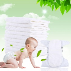 Price 10Pcs Washable Reusable 3 Layers Soft Cloth Diaper Pad Insert Nappy Liner Intl On China