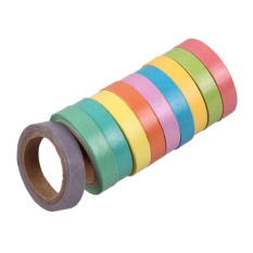 10x Rainbow Washi Sticky Paper Masking Adhesive Decorative Tape Scrapbookin By Welcomehome.