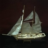 Low Cost 1 100 Scale Wooden Wood Sailboat Ship Kits Home Diy Model Home Decoration Boat Gift Toy For Kids Style Standard Intl
