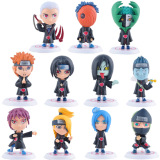Brand New 11Pcs Set 3 1Inch Naruto Akatsuki Uchiha Itachi Madara Sasuke Hidan Orochimaru Tobi Pein Deidara Dolls Action Figures Anime Toys